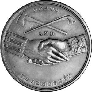 peace medal back