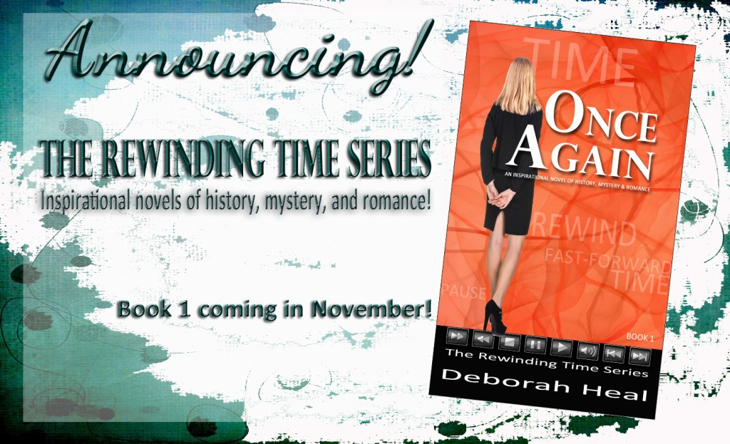 Announcing Rewinding Time Series blue and turquoise background