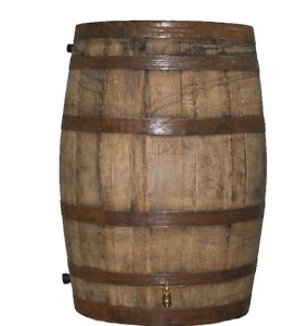 We have a barrel just like this serving as an end table in the family room.