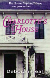 The cover of Charlotte's House, the prequel to the rewinding time novels