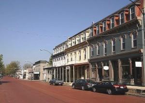 Historic St. Louis Street, Lebanon, Illinois.