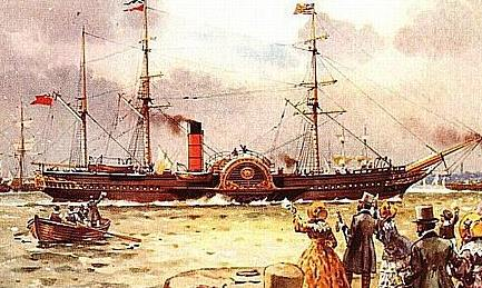 RMS Britannia, built in 1840.