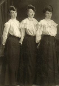 "Ladies wearing 1918 ""shirtwaists."""