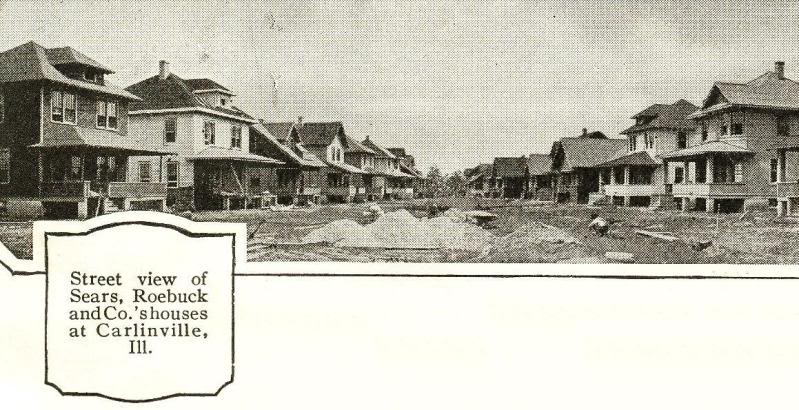 Street view of the Carlinville Sears houses